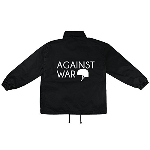 Against War Motiv auf Windbreaker, Jacke, Regenjacke, Übergangsjacke, stylisches Modeaccessoire für HERREN, viele Sprüche und Designs