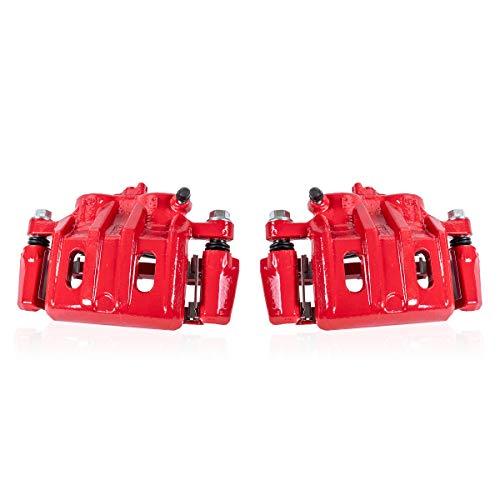 - Callahan CCK04961 [2] FRONT Premium Semi-Loaded Red Brake Caliper Pair + Hardware [ Audi A4 Quattro A6 Quattro Passat ]