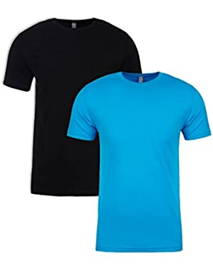 N6210 T-Shirt, Black + Turquoise (2 Pack), Large