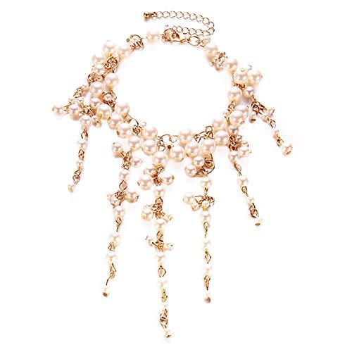 UltraSunday Women Fashion Faux Pearl Tassel Bracelet Party Cocktail Jewelry Charm Gift Wide ()