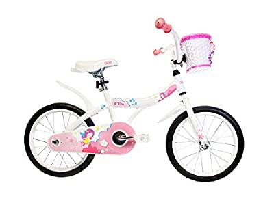 "Ryda Bikes Princess - 16"" Pink Little Girls Kids Princess Bike with Training Wheels and Basket"