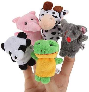 changshuo Peluche Marionette 10 Pezzi Marionette Famiglia Dito Marionette Bambola di Stoffa Bambino Mano Educativa Fumetto Animale Giocattolo Bambini Regali per Bambini