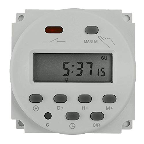 (FAVOLCANO CN101 DC 12V 16A Digital LCD Power Programmable Timer Time Switch Relay)