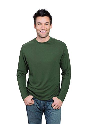 - ONNO Men's Long Sleeve Bamboo T-Shirt L Moss Green