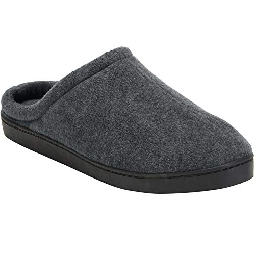 KingSize Men's Big & Tall Fleece Clog Slippers, Charcoal Big-11Ew