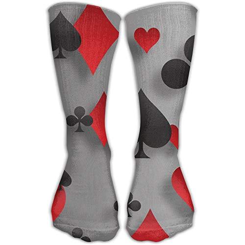 Men Women Poker Playing Cards Riding Premium High Athletic Socks Sports Outdoor