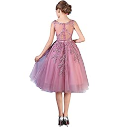 Sexy Sleeveless A line Short Homecoming Cocktail Party Dress,Pink,2