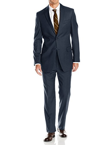 Button Super Fine Wool Suit - LN LUCIANO NATAZZI Mens Suits 2 Button Modern Fit Side Vent Narrow Stripe Suit (50 Long US / 60L EU/W 44