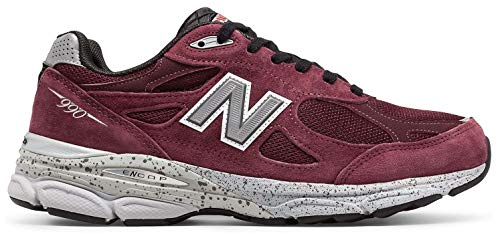 (New Balance M990 Version 3 Men's Running Shoe, Size: 9.5 Width: 2E Color: Burgundy)