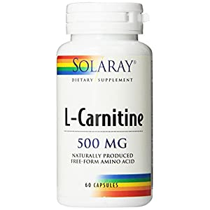 Solaray L Carnitine Free Form Capsules, 500mg, 60 Count