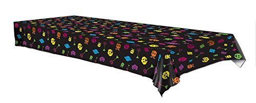 Plastic Tablecover 80s Video game Party Buffet Retro Tablecloth (Video Plastic)