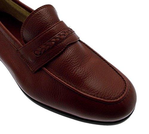 marron en cuir mocassin classique article 960