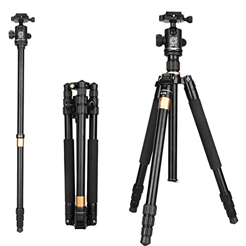 Camera Tripod & Monopod Portable Travel SLR Tripod DSLR Stand with 3-Way Pan Head and Carry Bag for Nikon Canon Sony