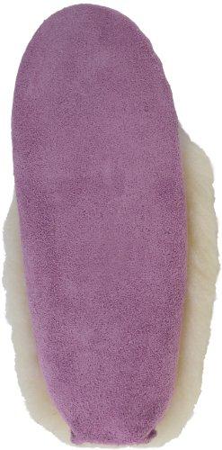 Damen Wildledermokassins violett mit Lammfellfutter und -manschette, Ledersohle. Hergestellt in Großbritannien. Größe 36 bis 42