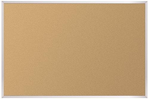 Best-Rite VT Logic Cork Bulletin Board, Aluminum Trim, 3 x 4 Feet (E301AC)