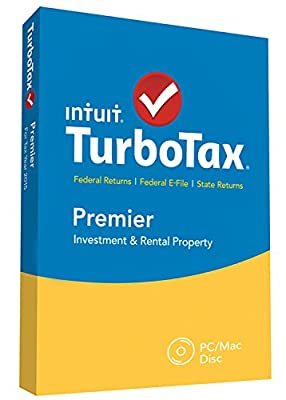 Intuit TurboTax Premier 2015 Federal + State Taxes + Fed Efile Tax Preparation Software - PC/Mac Disc Twister Parent