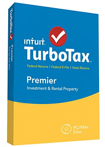 Intuit TurboTax Premier 2015 Federal + State Taxes + Fed Efile Tax Preparation Software - PC/MacDisc [Old Version]