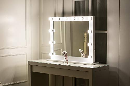 MissMii Hollywood Lighted Vanity Mirror with LightsDressing Table Makeup Mirror with Dimmable LED