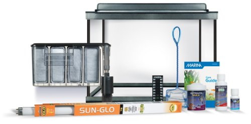 Marina Style 20 Deluxe Glass Aquarium Kit - 20 Gallons
