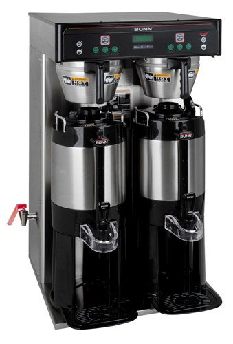 Bunn 37600.0011 ICB-TWIN TALL Infusion Series Coffee Brewer, Brews 17.5 Per Hour Capacity (Servers Sold Separately)