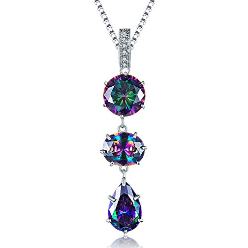 - Aurora Tears Crystal Teardrop Pendants Women Colorful Cubic Zirconia Necklaces Girls Dating Gift Mystic-Topaz Jewelry for Wedding/Bridal/Anniversary DP0049M