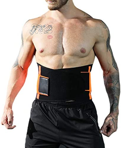 Double Adjustable Breathable Mesh Waist Trainer Trimmer Belt for Men and Women Weight Loss and Ab Wrap Sweat Workout Back and Lumbar Support