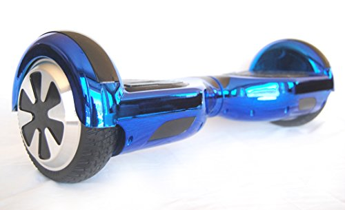 DTC Technologies Model R6 Hoverboard Self-Balancing Scooter UL-2272 Certified (Chrome Blue)