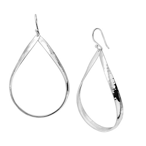 Silpada 'Do the Twist' Sterling Silver Open Oval Drop Earrings (Silver Oval Earrings Hammered)