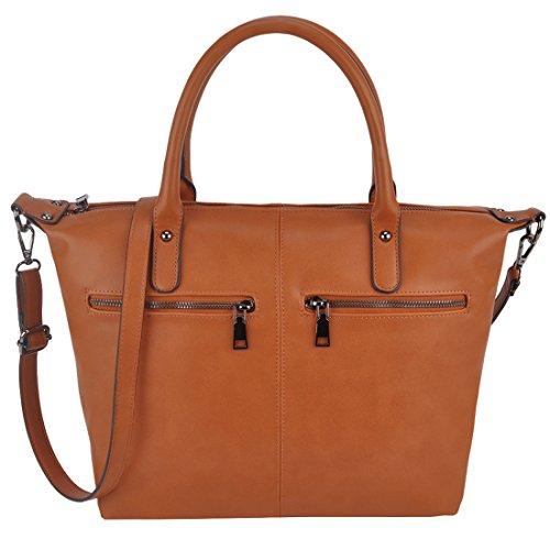 Handbags, ZMSnow Vegan Leather Large Tote Bag Womens Crossbody Purses for Work Girls
