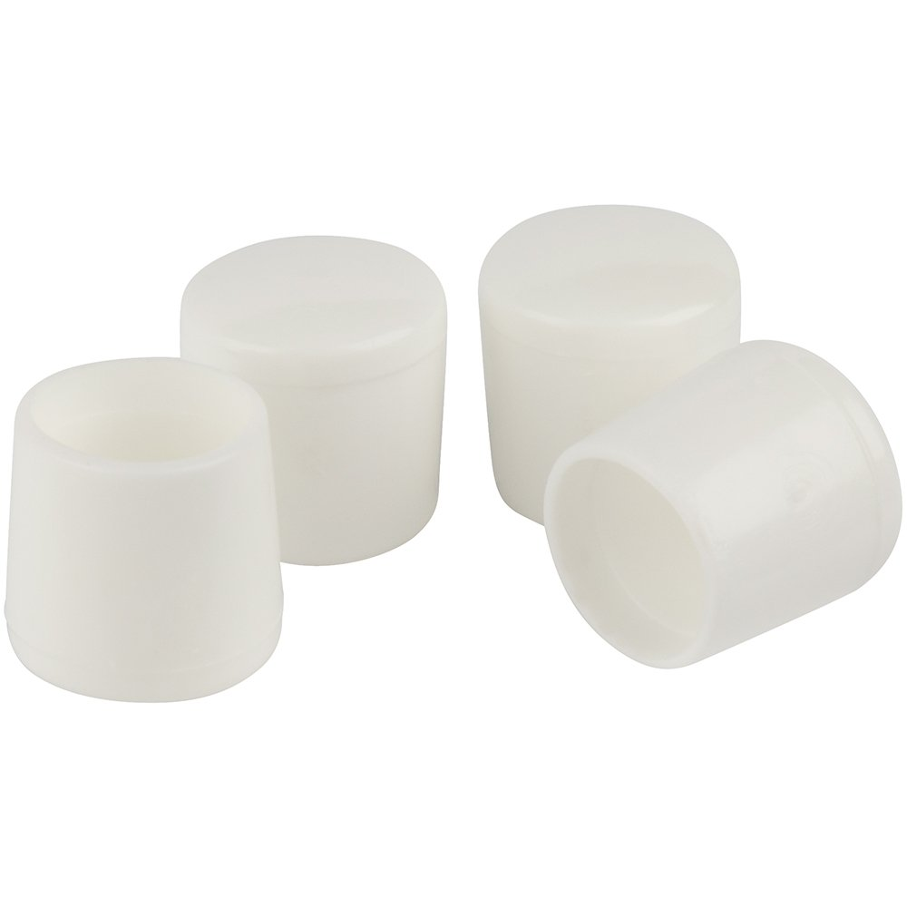 "SoftTouchRubber Leg Tip (4 Piece), 1/2"", White"