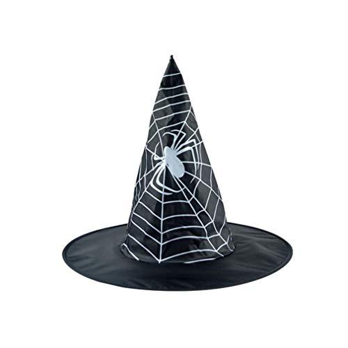 Yezijin Halloween Hats, Children's Black Witch Hat for Halloween Costume Accessory Cap (B) -