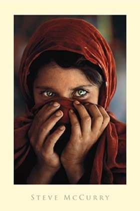 Steve McCurry Afghan Girl Photo Poster 24 x 36 - Girl Pictures Pakistan
