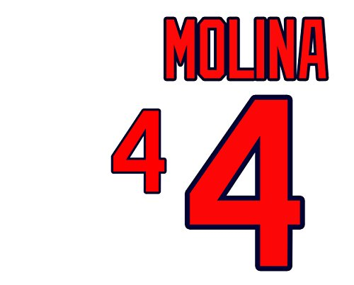 (Yadier Molina St. Louis Cardinals Jersey Number Kit, Authentic Home Jersey Any Name or Number Available)