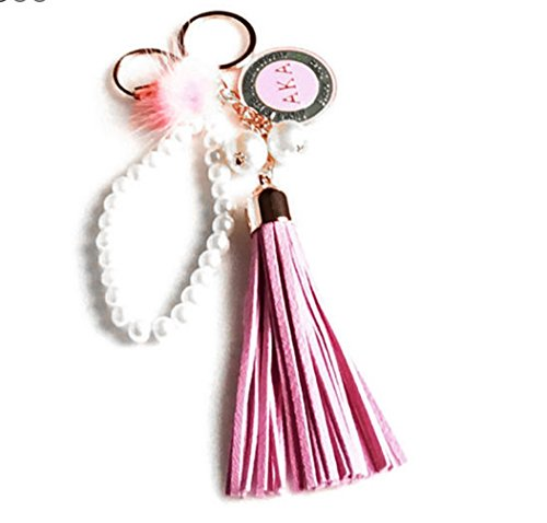 Nathan J. Alpha Kappa Alpha Sorority Tassel AKA Pendant Keychain/Purse/Bag Accessory (Kappa Alpha Key Ring)