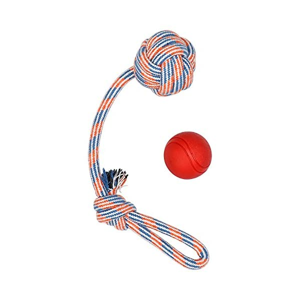 XL DOG ROPE TOYS FOR AGGRESSIVE CHEWERS - LARGE DOG BALL FOR LARGE AND MEDIUM DOGS - BENEFITS NON-PROFIT DOG RESCUE - LARGE FLOSS ROPE FOR DOGS DENTAL HEALTH - 100% COTTON ROPE TOY FOR LARGE DOGS 5