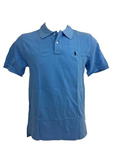 - Polo Ralph Lauren Mens Custom Slim Fit Polo Shirt (Blue New Harbour, XX-Large)