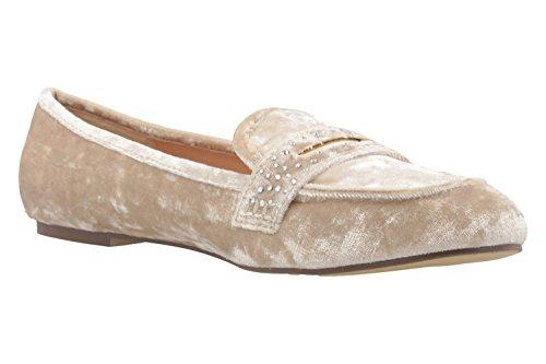 Velvet Femme Beige Footwear Ballerines Ice Pour Fitters 8OwCYqt8