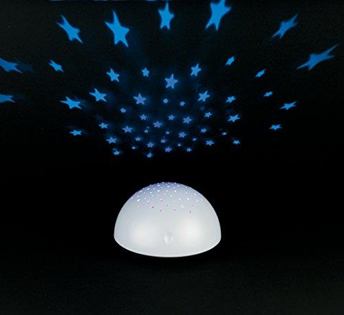 Creative movimiento funciona con pilas Proyector de Estrellas, color blanco
