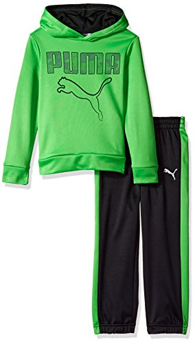 Boys Field Sweatshirt - PUMA Toddler Boys' Tech Fleece Pullover Set, Field Green, 2T