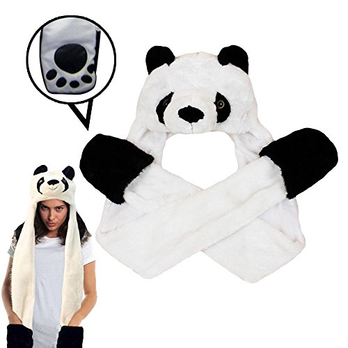 Plush Kung Fu Panda Mask - Dazzling Toys Plush Panda Hat with