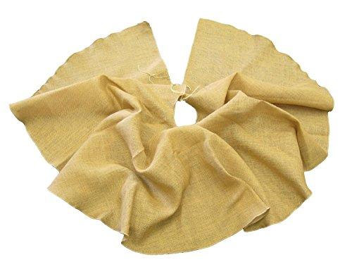 LA Linen Jute Burlap Tree Skirt, 60 inch, Natural