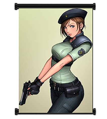 Resident Evil Game Jill Valentine Fabric Wall Scroll Poster