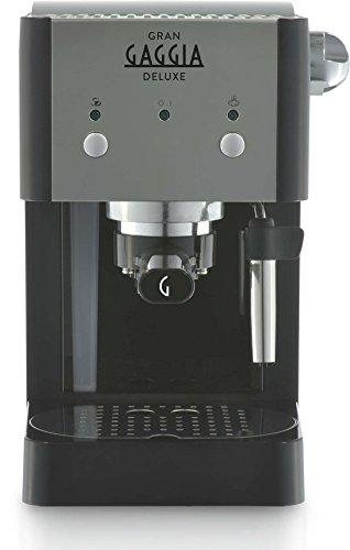 Gaggia GranGaggia Deluxe Black Macchina Manuale per il Caffè Espresso, per Macinato e Cialde, 15 bar, Colore Nero… 4