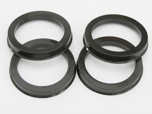 [해외]4 개 UberTechnic Hubcentric Rings - 64.1mm ID - 73.1mm OD - 검은 색 플라스틱 Hubring - 64.1mm 차량용 허브 & amp; /4 pieces UberTec