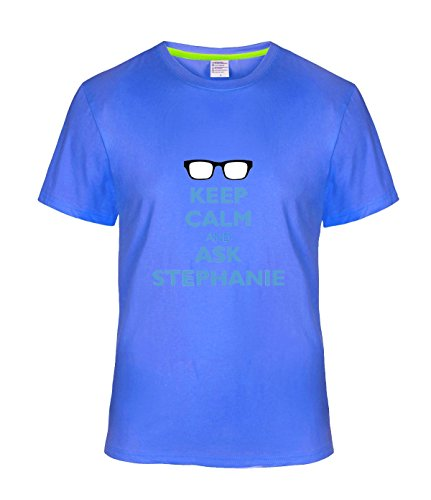 Fatal Decision Men's Keep Calm And Ask Stephanie Funy T-shirt darkBlue