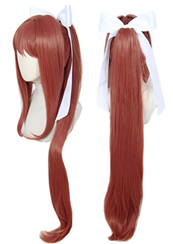 Linfairy Girl Wig Halloween Cosplay Costume Wig for Women Long wig with White (Best Wig With Bows)