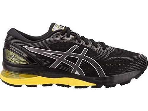 ASICS Men's Gel-Nimbus 21 Running Shoes, 6.5M, Black/Lemon Spark by ASICS (Image #5)
