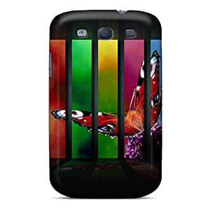 ErleneRobinson Samsung Galaxy S3 Shock-Absorbing Hard Phone Cover Allow Personal Design High-definition Butterfly Pattern [vDO2573ZbFy]