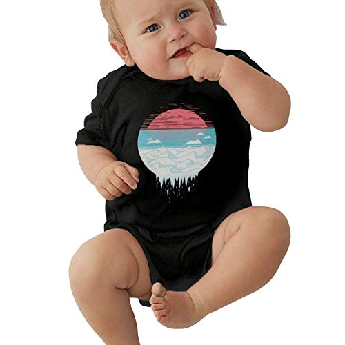 Laura J Piccirillo The Great Thaw Unisex Baby Boy Girl Bodysuits Short Sleeve Infant Cotton Clothes for 0-24 Month 6M Black -