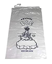 Plastic Ice Bags With Draw String Closur...